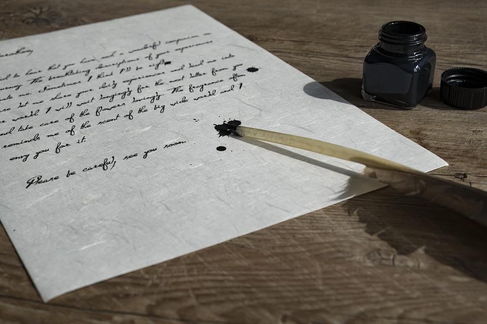 psaní brkem